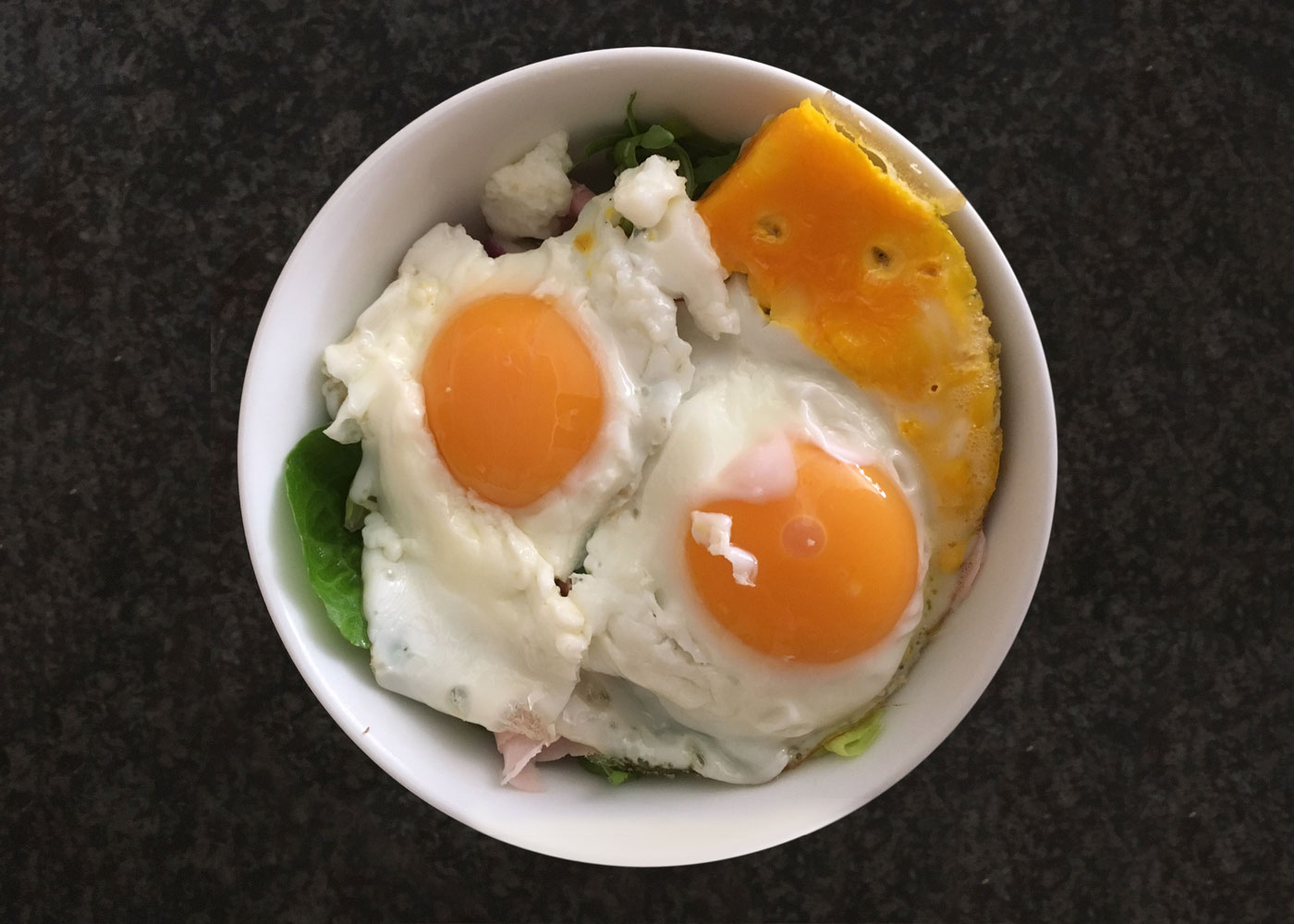 Cozy fried eggs